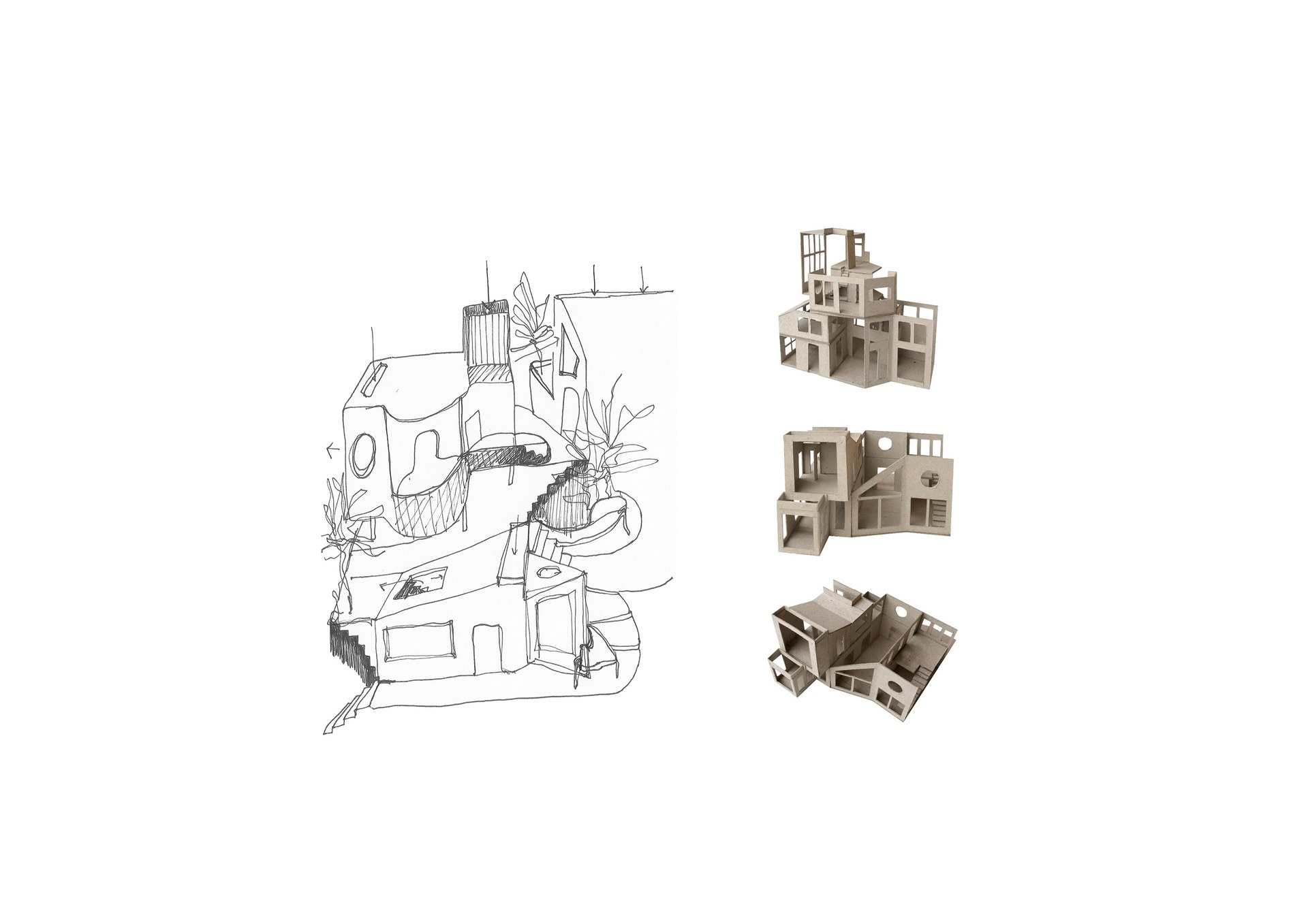 Sketches of dwelling units