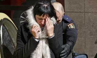 Задержанная Анна Кайдалова.