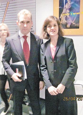 Марианна Гринь и Павел Астахов