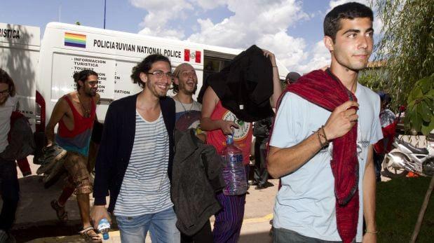 Задержанные туристы