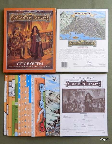 Image for City System Map Set (Advanced Dungeons & Dragons: Forgotten Realms Accessory)