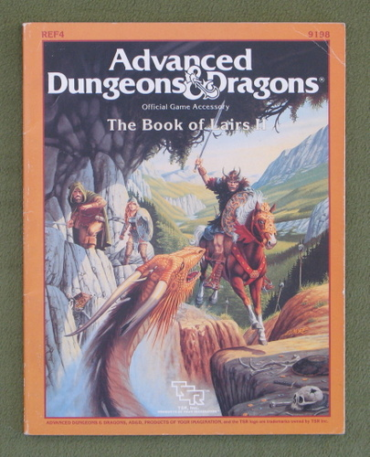 Image for Book of Lairs II (Advanced Dungeons & Dragons Accessory REF4)