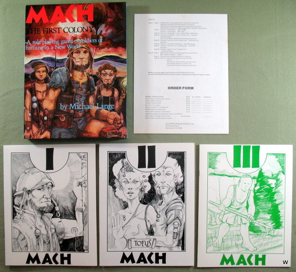 Image for Mach: The First Colony (A Role Playing Game of Soldiers of Fortune in a New World)