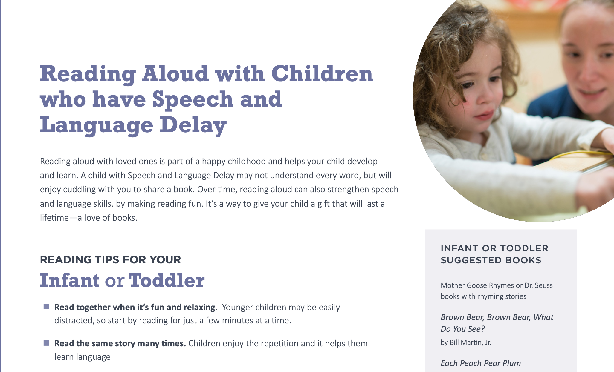 Readibg Aloud wirth Children with Language Delays Image