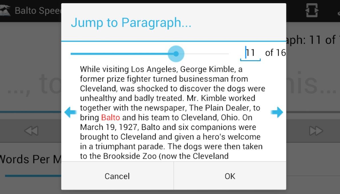Balto Android, Google Play app