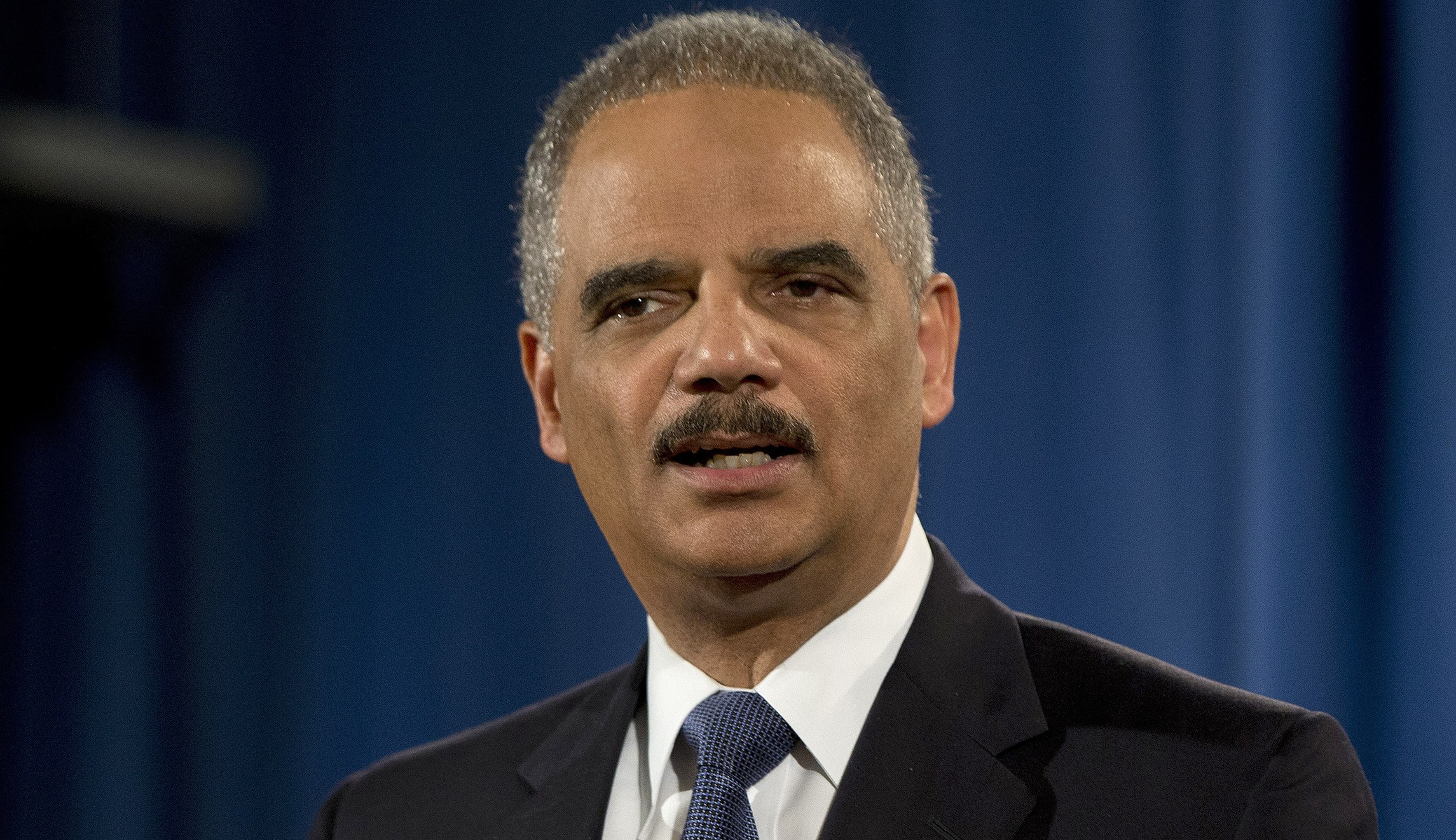 Former U S  Attorney General Eric Holder Endorses Gretchen