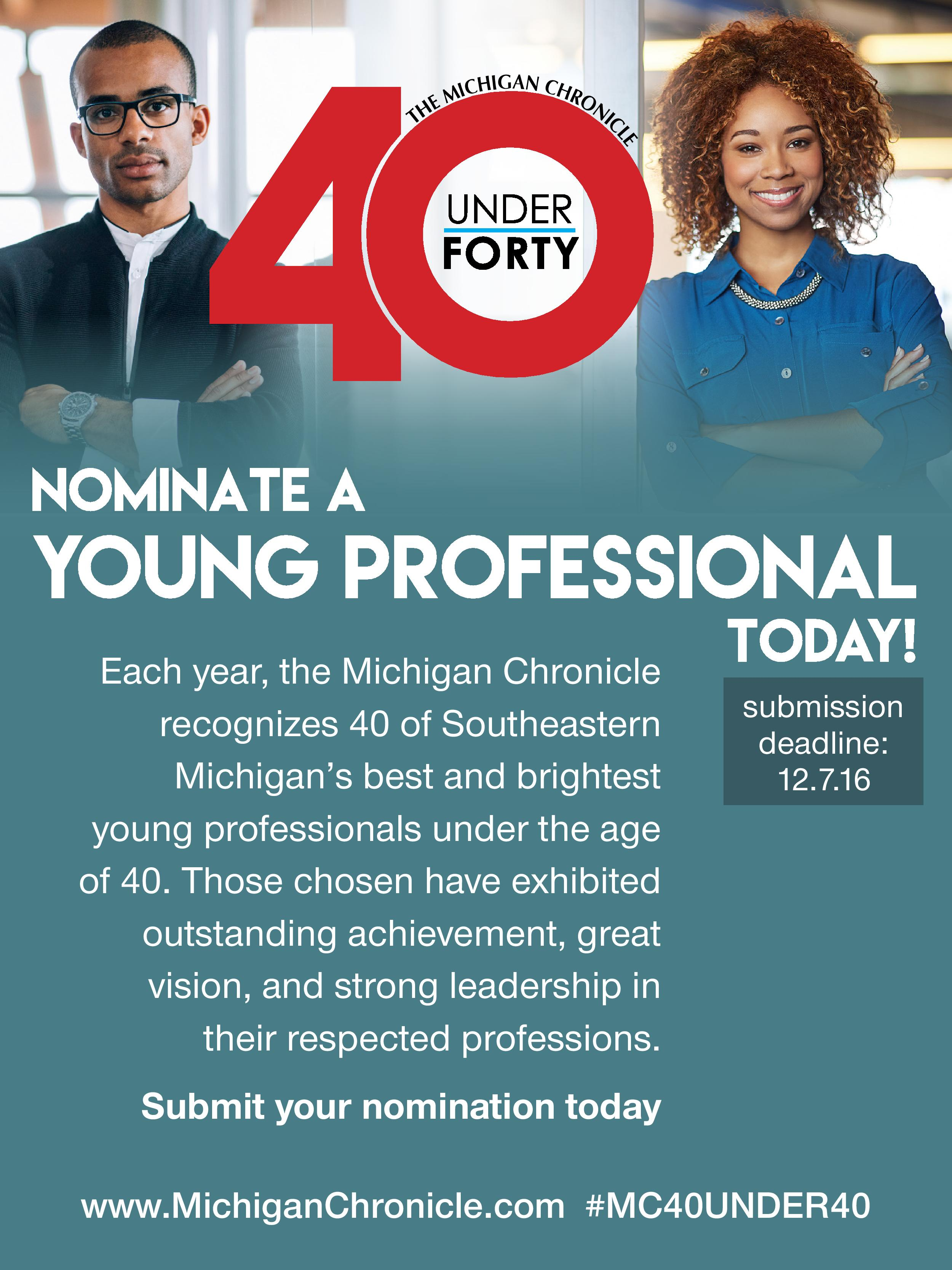 40 Under 40 Nominations | The Michigan Chronicle