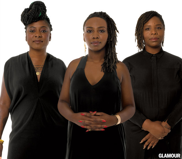 Opal Tometi, Alixia Garza and Patrisse Cullors: founders of BLM. PHOTO: Glamour