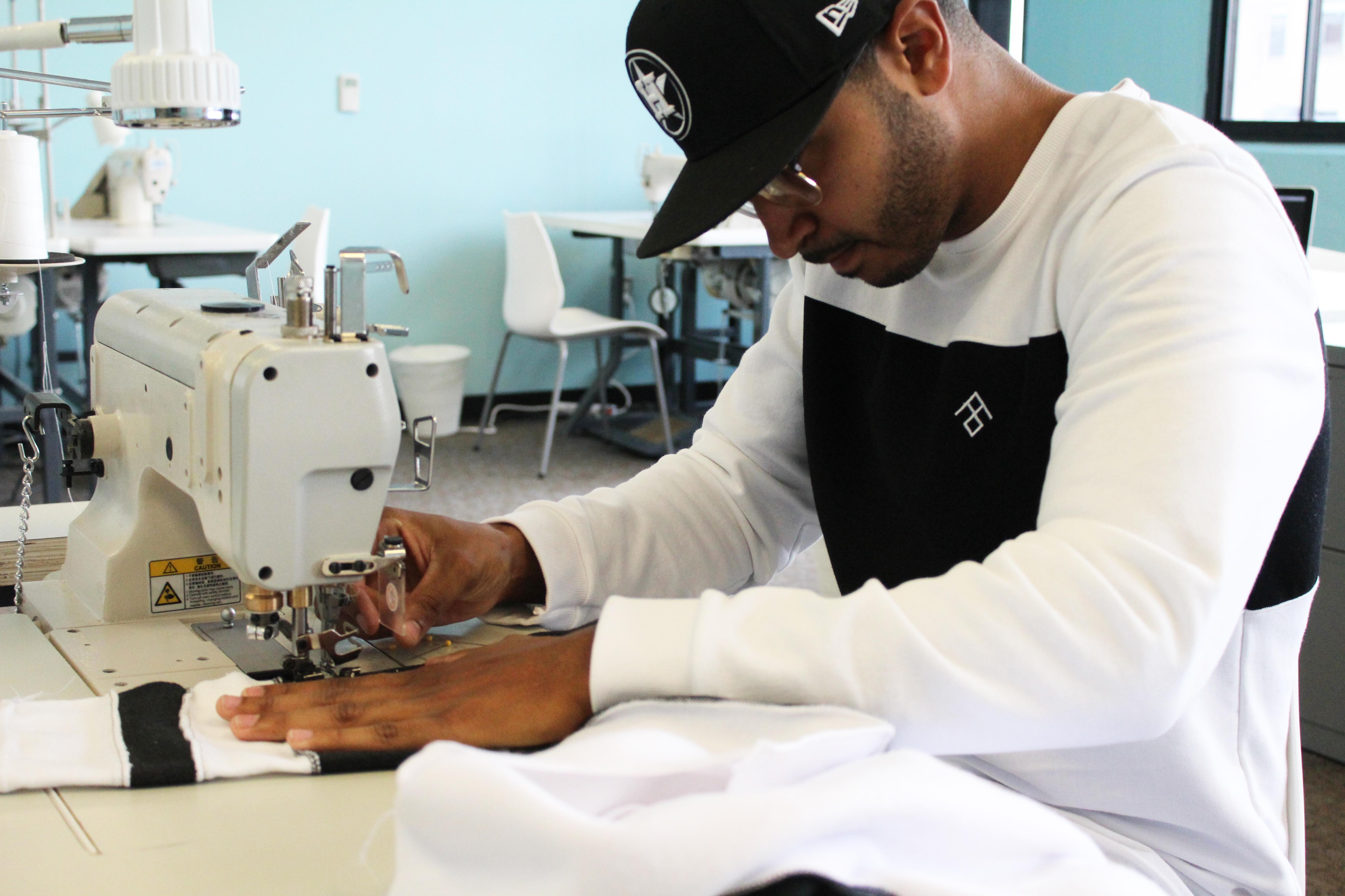 Terrence Jones sewing