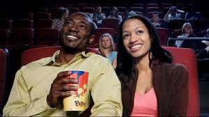 black movie goers