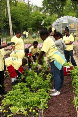 More than 150 students from William C. Loving Elementary in Detroit joined ScottsMiracle-Gro and the Michigan Urban Farming Initiative to learn about gardening, plant flowers and take part in the dedication of the new GRO1000 Children's Sensory Garden.