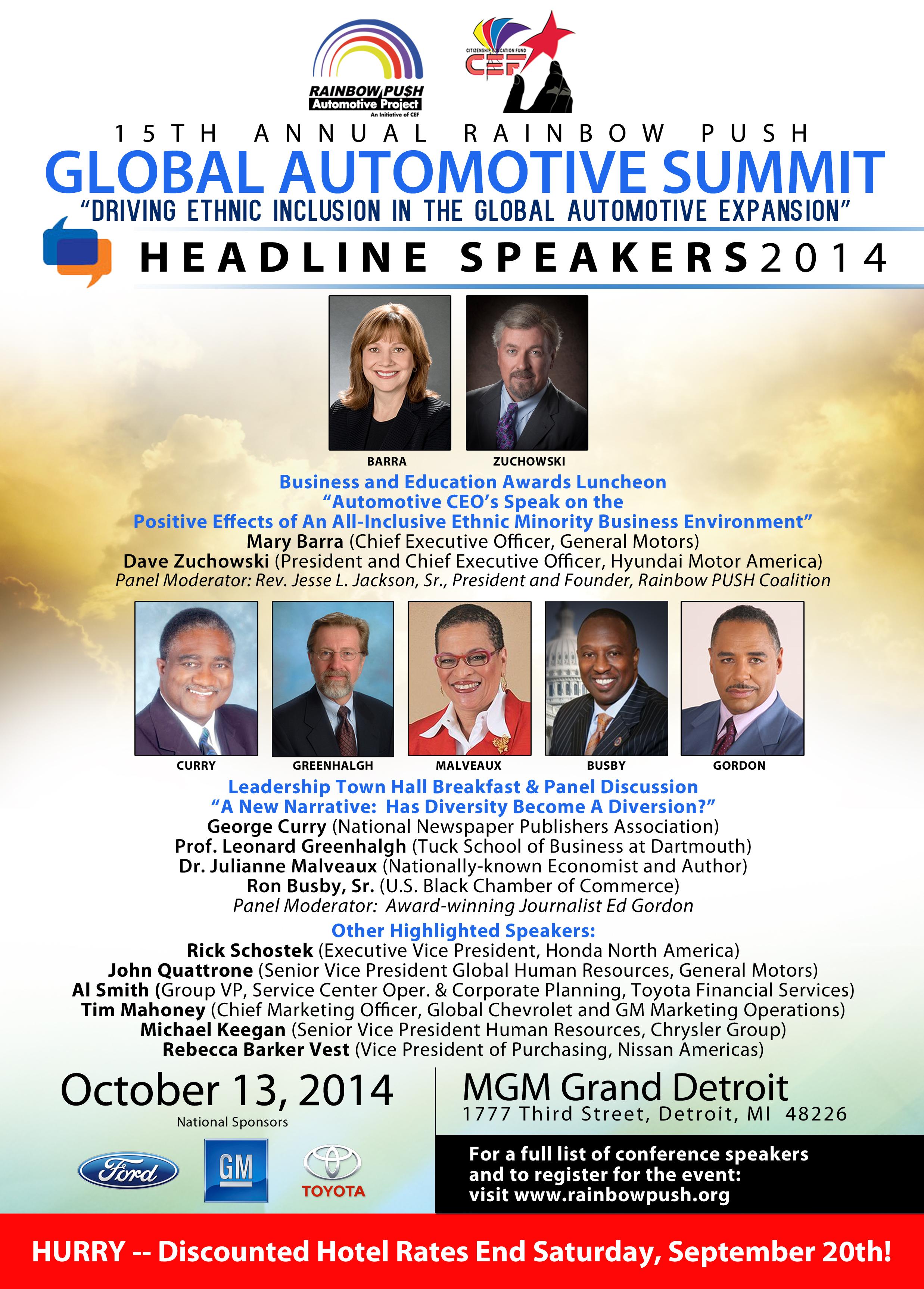 Rainbow PUSH Global Automotive Summit To Focus On Ethnic