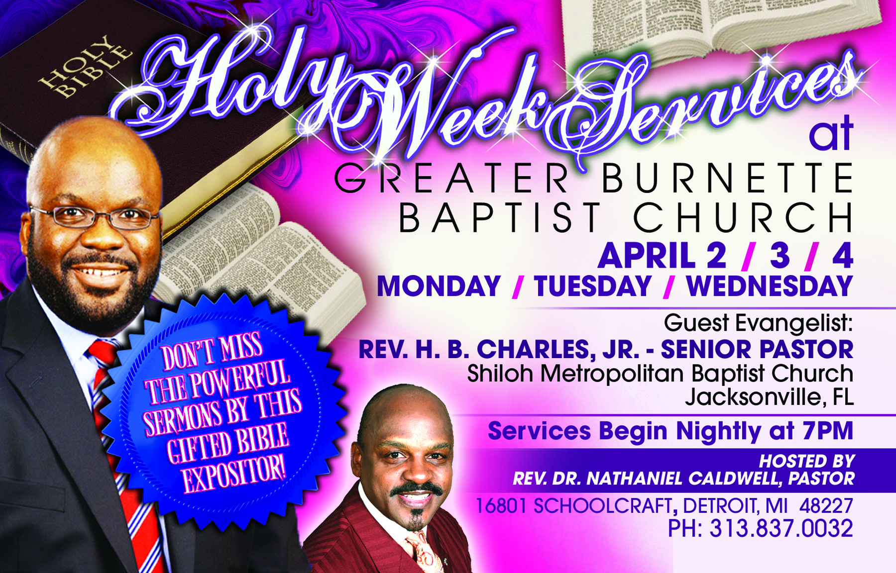 Holy Week Services- Greater Burnette