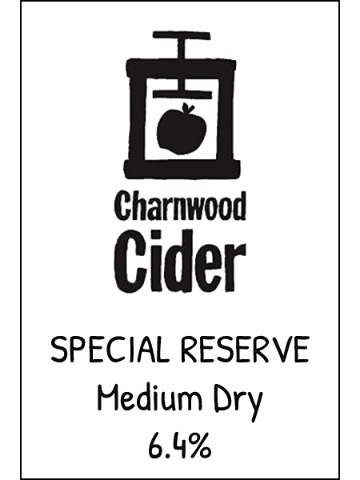 Pumpclip image for Charnwood Cider Special Reserve 2019