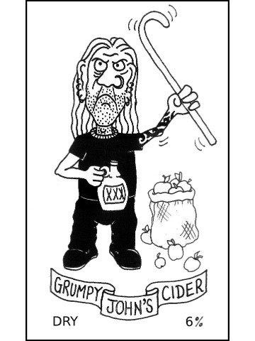 Pumpclip image for Grumpy John's Dry Cider
