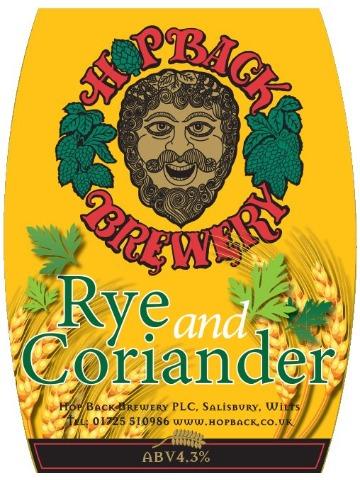 Hop Back - Rye & Coriander