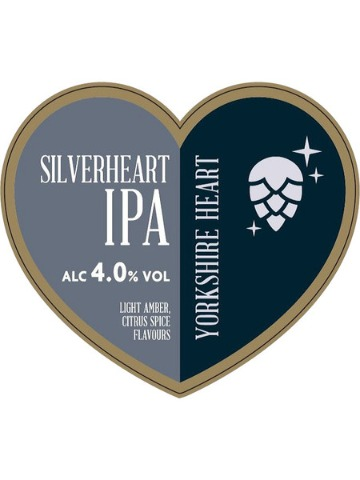 Pumpclip image for Yorkshire Heart Silverheart IPA