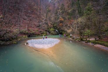 Enchanting emerald lake at Zeleni Vir