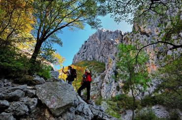 Paklenica provides for really scenic hiking