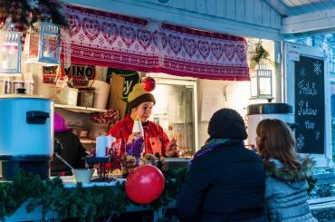 The Christmas market offers an assortment of exquisite food and drinks (but everyone prefers to sip on mulled wine)