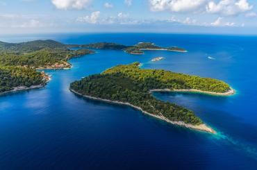 Pomena village, starting point for biking on Mljet island