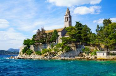 Holy Mary of Spilice church on Lopud, one of the Elaphiti islands you'll visit