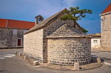 "You will visit the phenomenal ""Brač bonsai"" growing atop of a small church in the village Nerežišće"