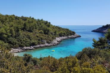Korčula has an endless supply of beautiful secluded beaches with turquoise sea