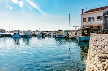 You'll be staying near the small fishing harbour