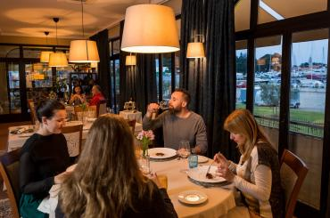 In Novigrad, you'll have an 8-course tasting menu at the Marina restaurant