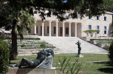 Garden view of the Meštrović Gallery, home to the artists' masterpieces sculpted from marble, bronze, and wood, as well as his drawings.