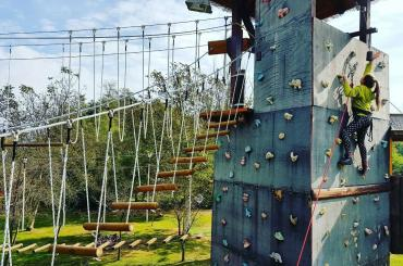 Some adrenaline park activities will take you well above ground