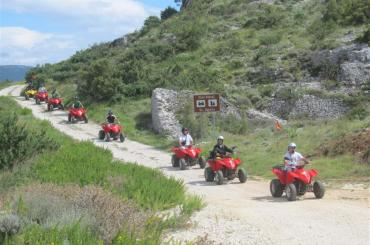 On the quad bike part of exploration, you will go on a sightseeing tour of the old citadel and church