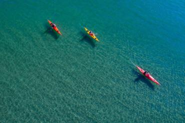 After quad-biking, your next stage of exploration will be kayaking in the Adriatic sea