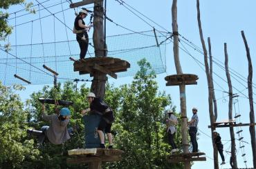 """High rope courses in the adventure park will bring a change from """"all the sitting"""""""