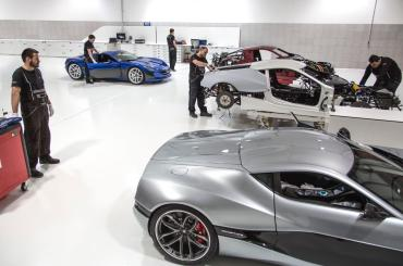 Sights from the Rimac assembly line. You'll get to see a lot more during the factory tour