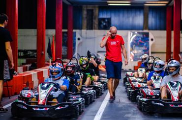 Karting Arena will be the perfect place to blow off steam that gets built up at the supercar factory