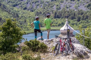 A full-day bike tour of the Krka National Park will often make you want to stop and just admire the view