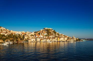 The historic city of Šibenik was founded where the river Krka flows into the Adriatic Sea