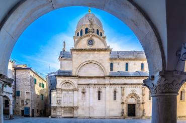 In Šibenik, you'll be visiting the Cathedral of St. James, inscribed on the UNESCO World Heritage List