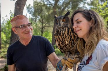 At the Falconry centre you'll get to meet various birds of prey up close and personal