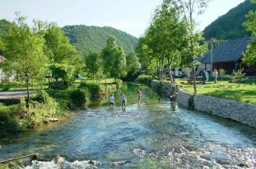 Korana village is at the northeastern entrance to the Plitvice National Park
