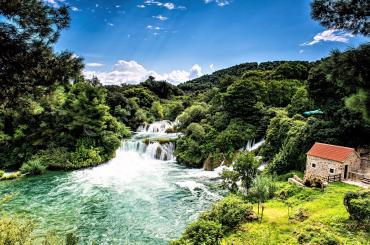 Gorgeous cascades and waterfalls in National Park Krka will take your breath away