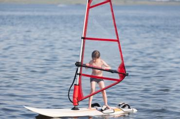 Beginner course is great for all generations - kids love windsurfing