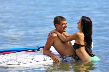 Couple that surfs together, stays together