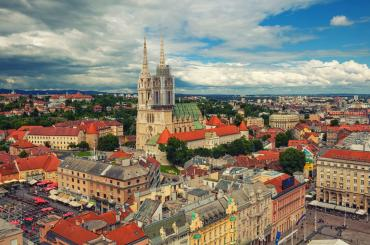 Ride up to the Zagreb Eye viewpoint for a magnificent 360 view over the city centre. This photo is just a glimpse of what you can see from there