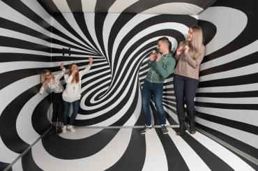 Museum of Illusions is often a place of endless fun and opportunity for weirdest family photos