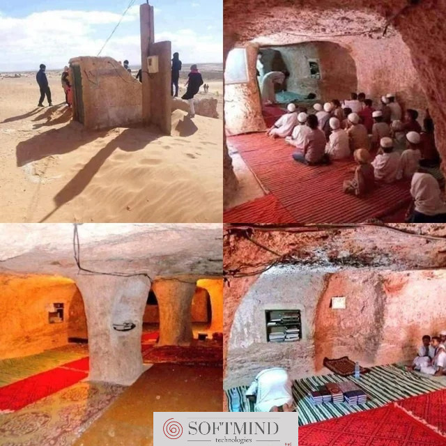 This mosque in Algeria was built underground in 1940 when colonial French was demolishing mosques in the area