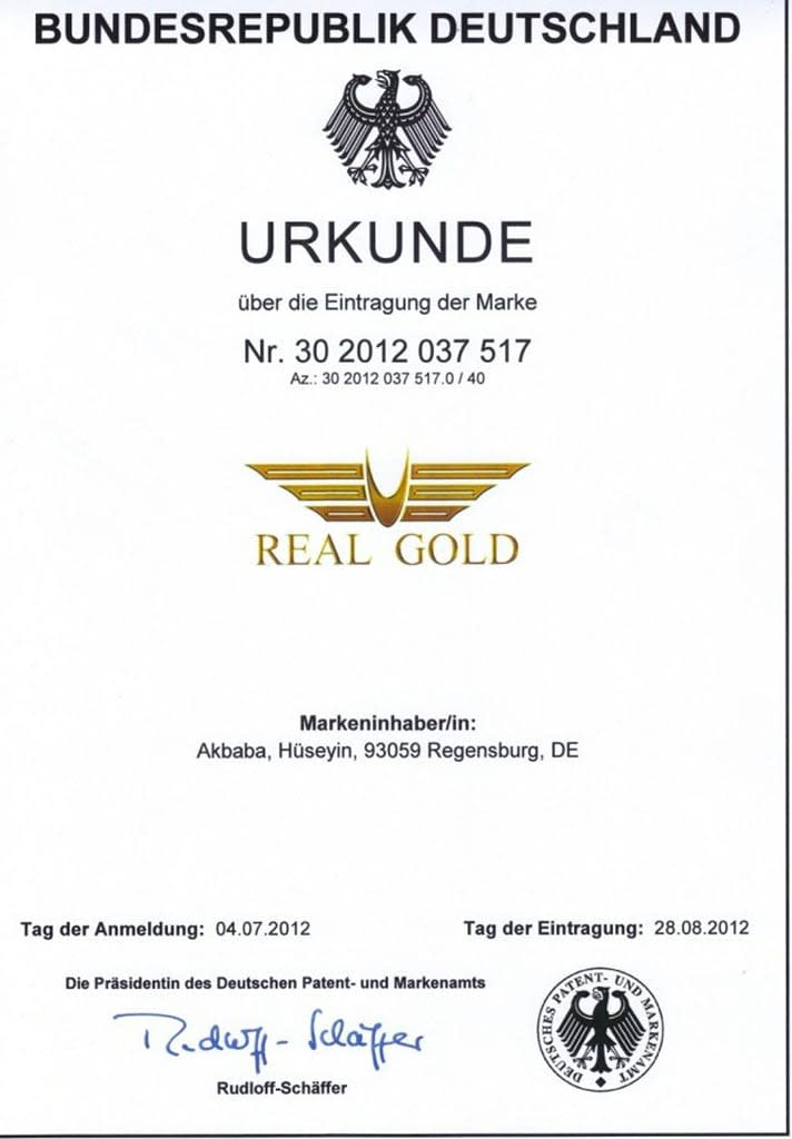 Real Gold Altın Kaplama 1