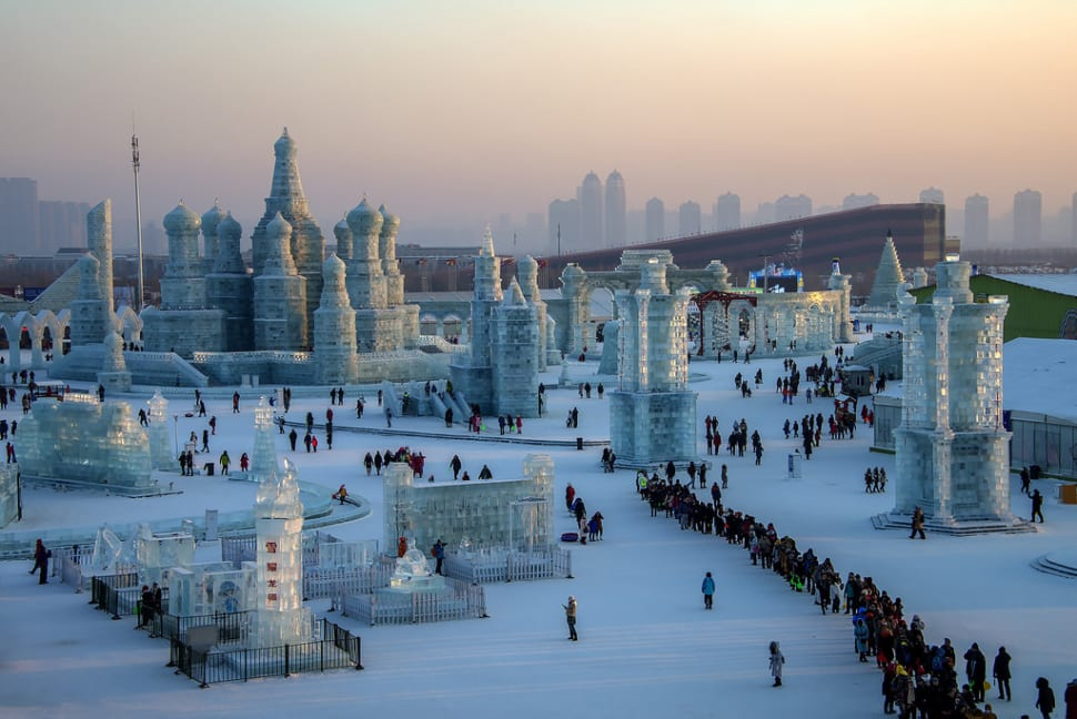 Harbin International Ice and Snow Sculpture Festival 2017 in China